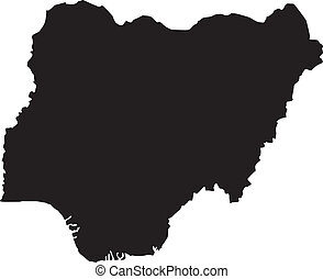 Vector illustration of maps of Nigeria