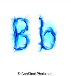 Fiery font. Letter B - Blue Fiery font. Letter B....