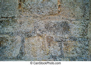 background texture of castle stone wall