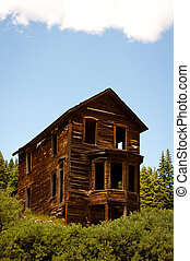 Animas Fork - Old wooden house in a ghost town
