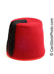 Turkish hat fez on a white background
