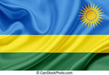 Rwanda waving flag