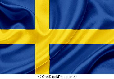 Sweden waving flag