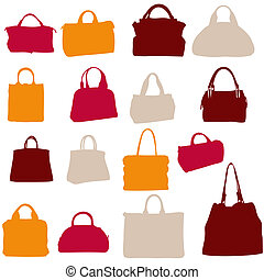 women bags vector silhouette