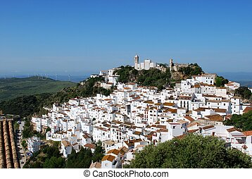 Town view, Casares, Spain. - View of the town and...