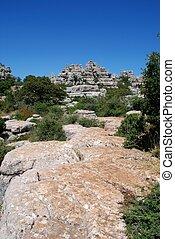 El Torcal National Park, Antequera. - Karst landscape, El...