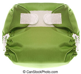 Eco Friendly Green Cloth Diaper with Hook and Loop Closure...