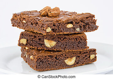 chocolate nut brownies - Soft and delicious chocolate nut...