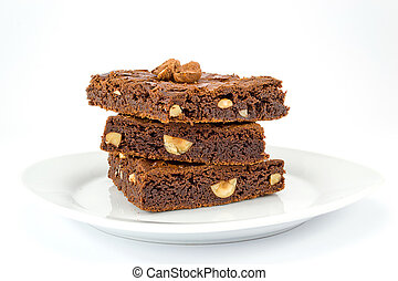 brownies dessert - Soft and delicious chocolate nut brownies