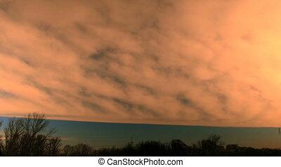 mist dusk time lapse