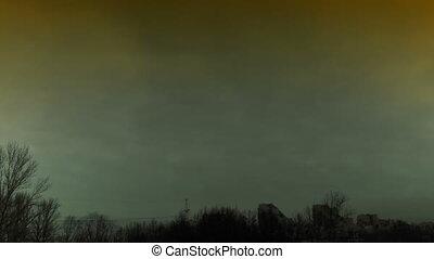 mist gloomy time lapse