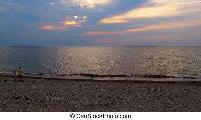Baltic beach, dusk