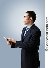 Young businessman making presentation - Portrait of a man in...