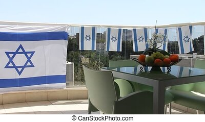 Balcony at Independence Day - Balcony in Tel Aviv at...