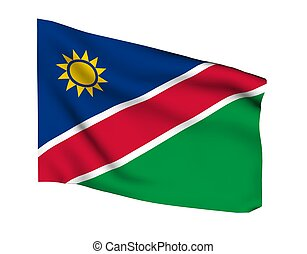 NAMIBIA WINDHOEK - Flag of namibia windhok