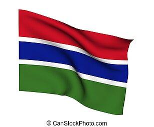 GAMBIA BANJUL - Flag of gambia banjul