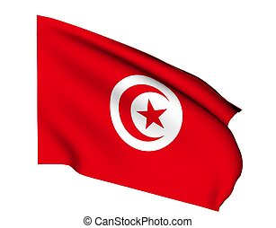 tunisia - Flag of tunisia
