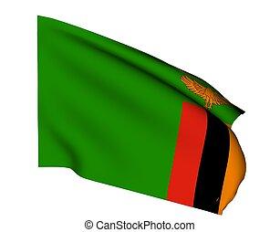 zambia - flag of zambia