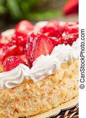 Strawberry Cake with Cream - delicious strawberry cake with...