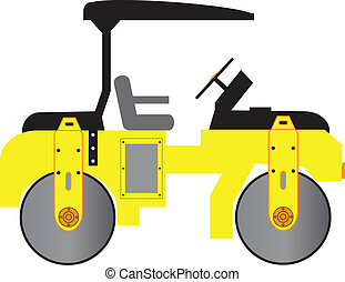 Road Roller - A Yellow Mini Road Roller