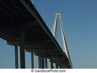 Ravanel Bridge, crosses the Cooper river in Charleston SC