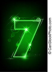Glowing Number Seven