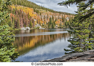 Bear Lake Reflections - Bear Lake at Rocky Mountain Nationa...