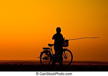 maneira, vida, campo, tailandia