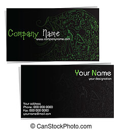 Business Card for Beauty Company - illustration of front and...