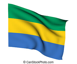 gabon libreville - flag of gabon libreville