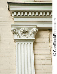 Fluted Corinthian Pilaster - Fluted Corinthian pilaster on...