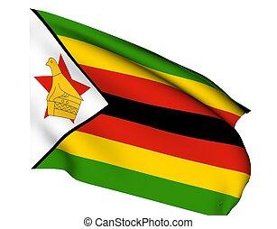 ZIMBABWE - flag of ZIMBABWE