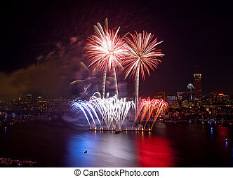 Fourth of July Fireworks in Boston 2