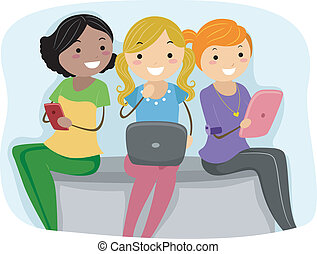 Tablet PC Girls