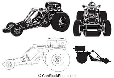 Fast Race Land Transporte Car
