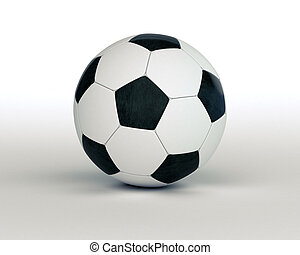 Soccer ball on a light background with a shadow