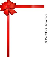 Red Ribbon with Big Red Bow