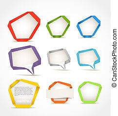 origami speech clouds