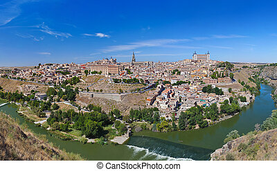 Panorama of Toledo Spain - nature and architecture...