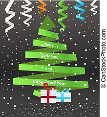 Abstract paper Christmas tree