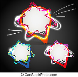 hand-made bubbles group - Glowing talking vector hand-made...