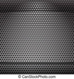 Metal grill net background