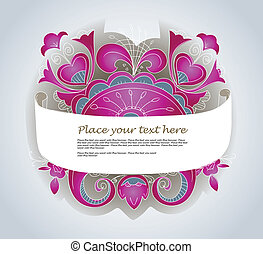silver ornamented banner - Fantastic style silver ornamented...
