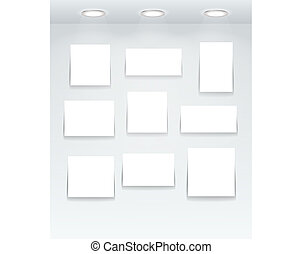 White illuminated boards
