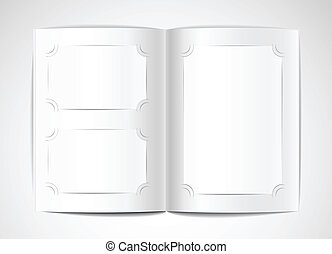 Photo album with blank photo cards