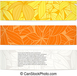 Set of floral vector banners