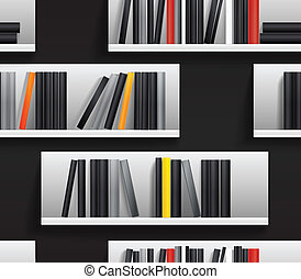 book shelves - Seamless background of library shelves