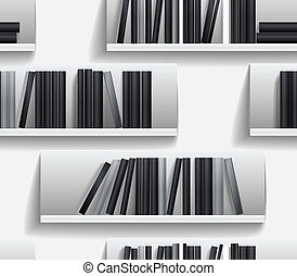 library shelves  - Seamless background of library shelves