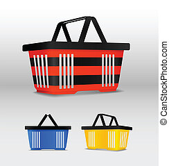 Shopping cart Different colors