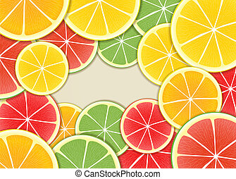Citrus background Ready for a text